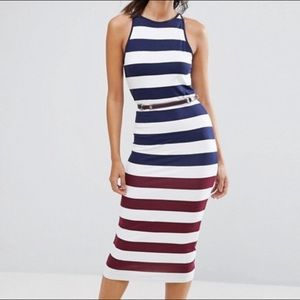 Ted Baker: Blue-red-white striped Yuni dress (6)